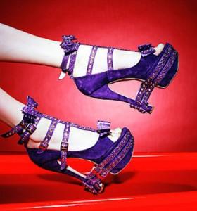 фиолетовые босоножки 280x300 С чем носить босоножки фиолетового цвета? Модный тренд